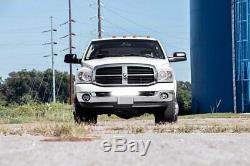 100W 20 LED Light Bar with Bumper Bracket, Wirings For 03-18 Dodge RAM 2500 3500