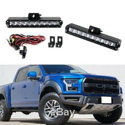 100W CREE LED Light Bar Fog Lamp Kit with Lower Bumper Bracket For 17+ Ford Raptor