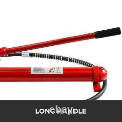 10Ton Porta Power Hydraulic Jack Body Frame Repair Kit 2M Lengthen Hose Lift Ram