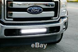 120W 20 LED Light Bar with Lower Bumper Bracket Wiring For 2011-16 Ford F250 F350