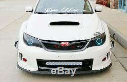 144W 25 LED Light Bar with Lower Bumper Brackets Wiring For 11-14 Impreza WRX STI