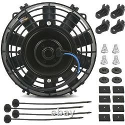 15 Row 6an Engine Transmission Oil Cooler Fan In-hose Thermostat Heavy Duty Kit