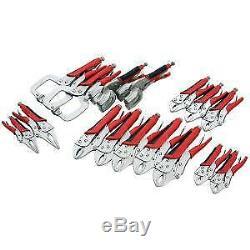 16 piece Vice Grip Pliers Set Professional Heavy Duty Kit Clamps Long (CT4169)