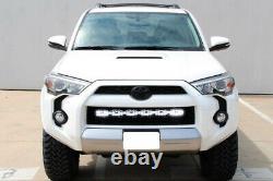 180W 30 LED Light Bar with Lower Bumper Bracket, Wiring For 14-21 Toyota 4Runner