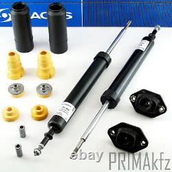 2 SACHS Stoßdämpfer + Domlager + Anschlagpuffer hinten BMW E81 E82 E88 E90 E91