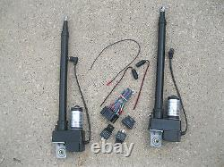 (2) TWO Heavy Duty 10 Inch Linear Actuator & Wiring Switch Kit 225lb 12 Volt DC