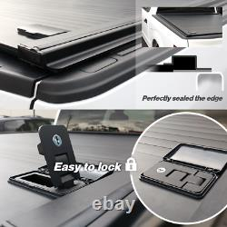 2007-2020 Tundra Tonneau Cover Aluminum Retractable Waterproof 5.5ft Bed + LED