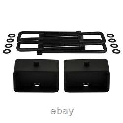 3 Front 3 Rear Lift Kit Shock Extenders +Shims For 99-07 Sierra Silverado 1500