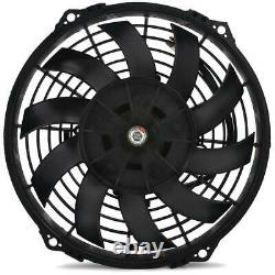 34 Row Heavy Duty Engine Transmission Oil Cooler 10an Fittings Electric Fan Kit