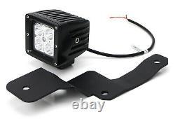 40W CREE LED Pod Lights withA-Pillar Bracket/Wiring For 19-up Chevy Silverado 1500