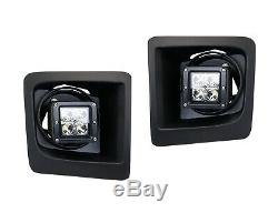 40W CREE LED Pods with Foglamp Bracket/Wirings For GMC Sierra Chevy Colorado Tahoe