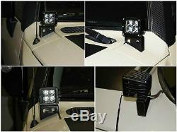 40W CREE LED Pods with Front Cowl Mounting Brackets For 2007-14 Toyota FJ Cruiser