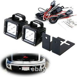 40W CREE LED Pods with Lower Bumper Mounting Bracket, Wirings For 09-14 Ford F150