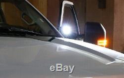 40W CREE LED Pods withA-Pillar Bracket/Wiring For 07-14 Chevy Silverado GMC Sierra