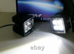 40W LED Pods with Backup Tow Hitch Bracket/Wiring For 03+ Dodge RAM 1500 2500 3500