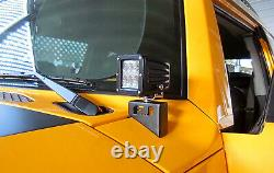 48W CREE LED Pods with Front Cowl Mounting Brackets For 2007-14 Toyota FJ Cruiser