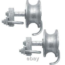 6 CHAIN LINK WALL MOUNTED ROLLING GATE HARDWARE KIT Heavy Duty Galvanized