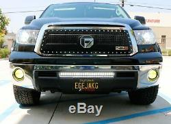 72W 25 LED Light Bar with Bumper Mount Brackets, Wirings For 07-13 Toyota Tundra