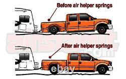 Air Helper Spring Over Load Kit Black Gauge & Tank Fits 1999-2004 Ford F250 F350