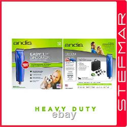 Andis Dog Clippers HeavyDuty EasyClip Groomer MBG2 Blue Clipper 11 Piece Kit