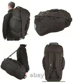 Army Combat Military Shoulder Travel Holdall Cargo Bag Rucksack Kit Black Duffle