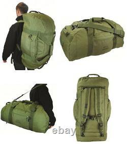 Army Combat Military Shoulder Travel Holdall Kit Equipment Bag Rucksack Duffle