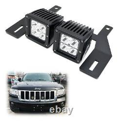 Behind Grille Mount LED Pod Light Kit withBrackets, Wiring For Jeep Grand Cherokee