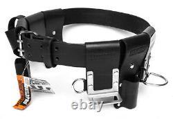 BuildPro Scaffolders Belt Kit Leather Heavy Duty Stitching LBBSBK