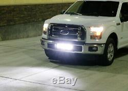 Complete Lower Bumper Grill Mount LED Light Bar System For 2015-up Ford F-150