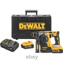 DeWALT DCH273P2 20V MAX 1 XR Brushless SDS PLUS L-Shape Rotary Hammer Kit