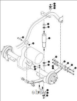 EZGO Rear Heavy Duty Leaf Spring Kits 1994-Up TXT Golf Cart 3 Leaf / Set of 2