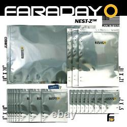 Faraday Cage EMP Bags, 7.0mil Heavy Duty, 20pc Kit BULK LOT X-LARGE. TESTED