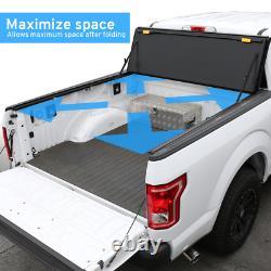 Fit 2009-2018 RAM 1500 5.7ft Short Bed Hard Tri-Fold Tonneau Cover Low Profile
