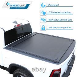 Fit 2014-2018 Silverado/Sierra 6.5ft Bed Aluminum Retractable Hard Tonneau Cover