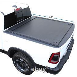 Fit 2019-2021 Ram 1500 Retractable Tonneau Cover Hard Waterproof Aluminum 5.7ft