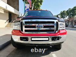 Flood/Spot Beam LED Light Bar with Lower Bumper Bracket, Wire For 99-07 F250 F350