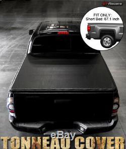 For 2001-2003 F150 Super Crew Cab 5.5 Ft Short Bed Snap-On Vinyl Tonneau Cover