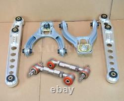 G2 Polished Aluminum Lower Control Arm+ Front Rear Camber Kit For 96-00 CIVIC EK