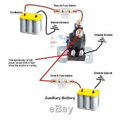 HEAVY DUTY DUAL / AUXILIARY BATTERY ISOLATOR With COPPER CABLES COMPLETE KIT FUSES