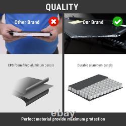 Hard Quad Fold Tonneau Cover For 2009-2021 F-150 5.5ft Bed Waterproof Aluminum
