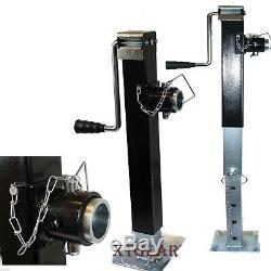 Heavy Duty 8000LB Mount Trailer Jack Kit Sidewind Adjustable Tube Towing Hauling