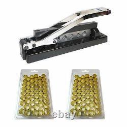 Heavy Duty Bench Hose Ferrule Crimper Crimping Tool 5 Dies W 50 Ferrules H8-KIT1