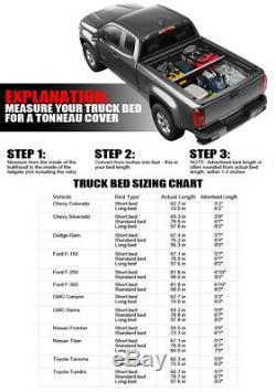 Hidden Snap Tonneau Cover For 07-14 Chevy Silverado/GMC Sierra 6.5 Ft Truck Bed