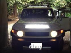 Hood Scoop Mount 25 LED Light Bar withBrackets Wiring For 07-14 Toyota FJ Cruiser