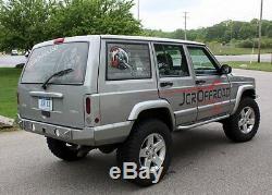 JCR Offroad HD Tail Light Housings Bare Metal 97-01 Jeep Cherokee XJ