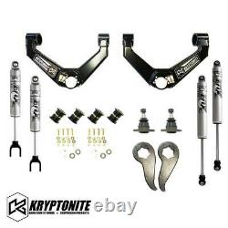 Kryptonite Stage 3 Leveling Kit With Fox Shocks 11-19 Chevy GMC 2500HD 3500HD