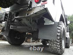 Land Rover Defender 110 Heavy Duty Stronger Rear Mud Flap kit + Mudshield GL1008