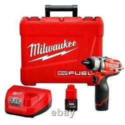 Milwaukee 2402-22 M12 FUEL 12V 1/4-Inch Hex 2-Speed Screwdriver Kit