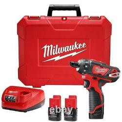 Milwaukee 2406-22 M12 12V 1/4-Inch Hex 2-Speed Screwdriver Kit