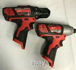 Milwaukee 2494-22 M12 3/8 in. Drill Driver and 1/4 in. Hex Impact Driver Kit GR